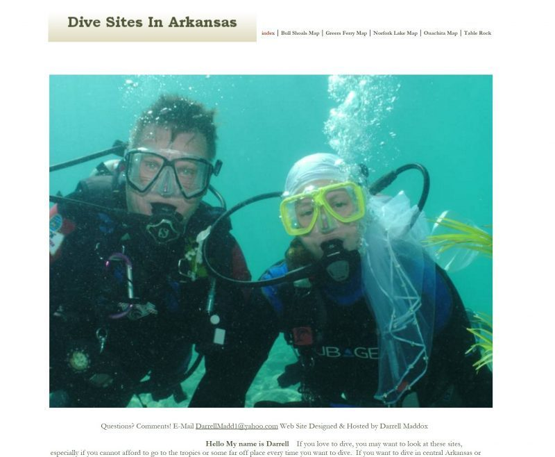 Dive Sites in Arkansas